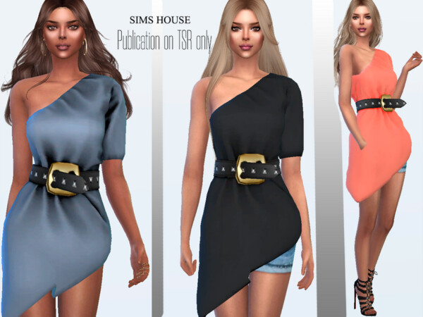Womens tunic with a belt with rivets by Sims House from TSR