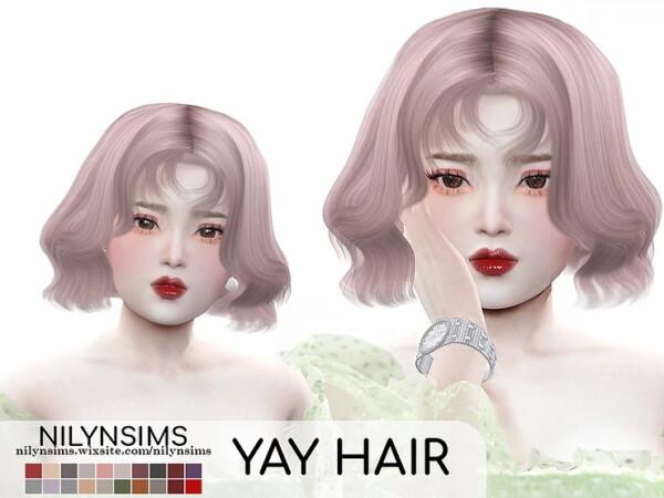 Yay Hair from Nilyn Sims 4