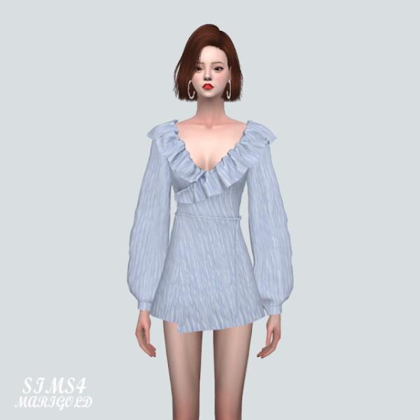 ZZZ Frill Wrap Mini Dress from SIMS4 Marigold