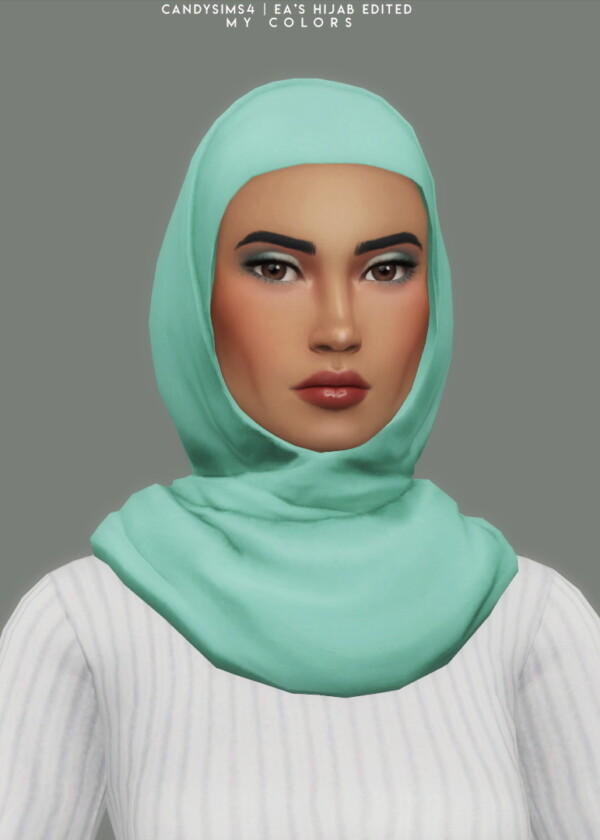 Hijab retextured from Candy Sims 4