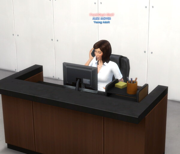Front Desk Staff Mod by lemonshushu from Mod The Sims