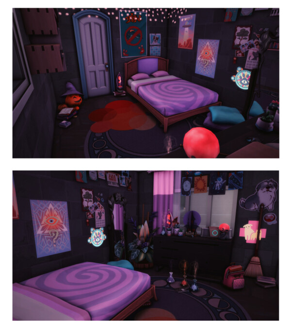 Neon Town Witch student flat from Wiz Creations