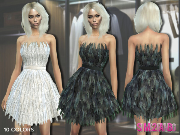 307  Feather Dress by sims2fanbg from TSR