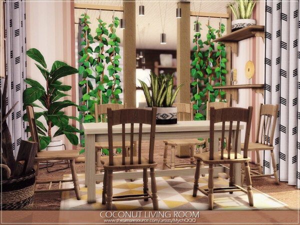 Coconut Living Room by MychQQQ from TSR
