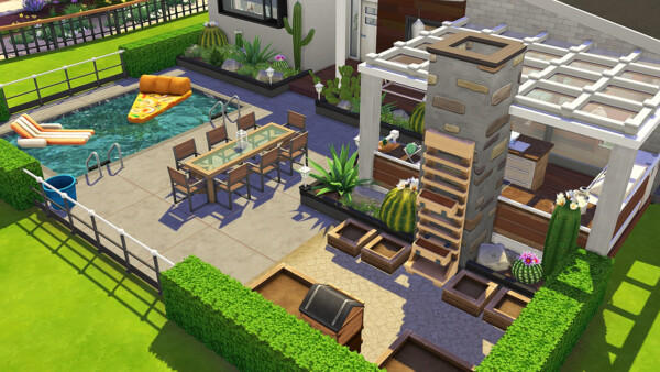 Grandparents Mid Century Modern House from Aveline Sims