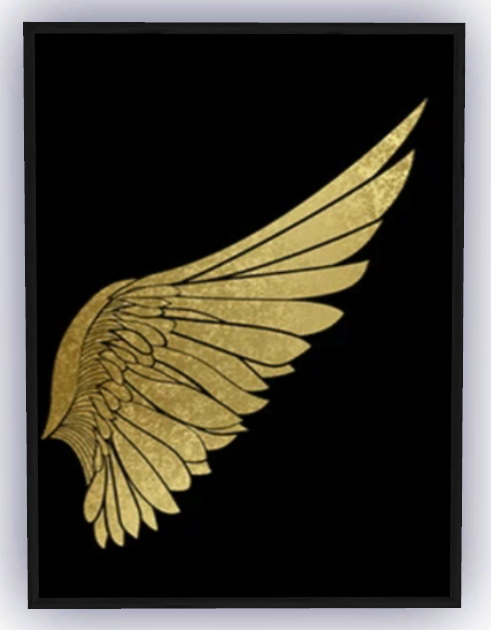 Pair of Golden Wings Painting from Pop Sims Culture
