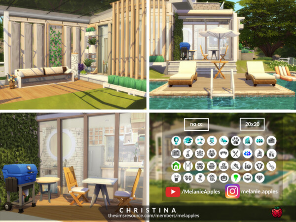 Christina tiny house no cc by melapples from TSR