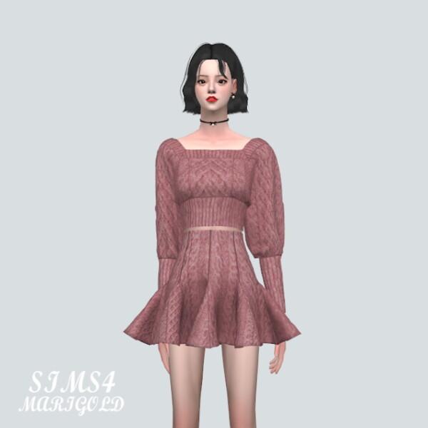K Sweater Mini Dress from SIMS4 Marigold
