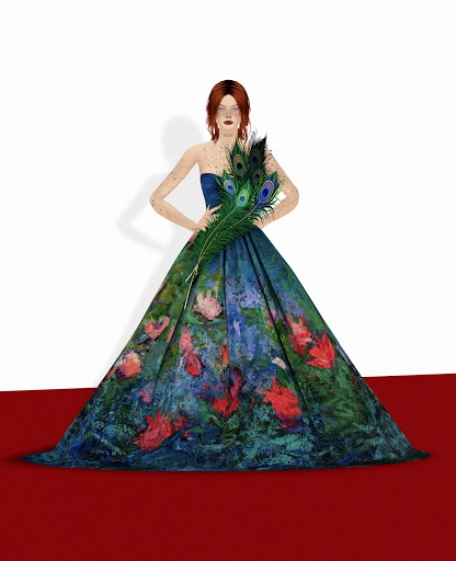 Painting Dress from Red Head Sims