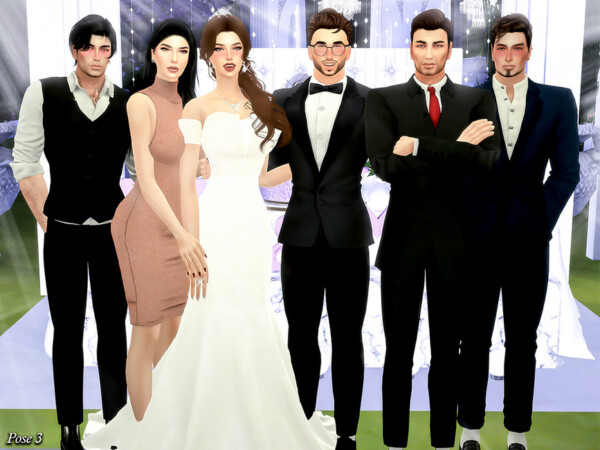 Wendding Party II Pose Pack by Beto ae0 from TSR