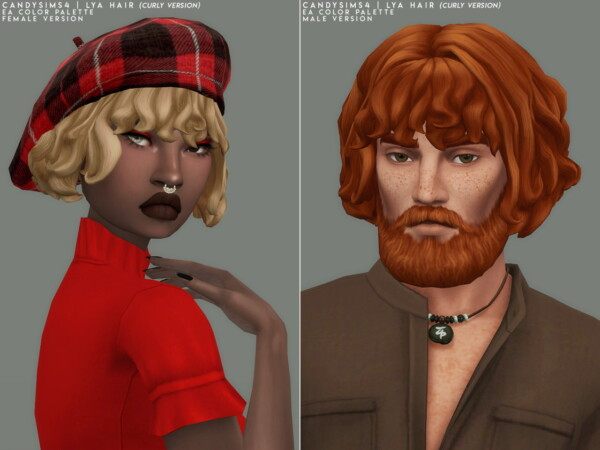 Lya Hair from Candy Sims 4