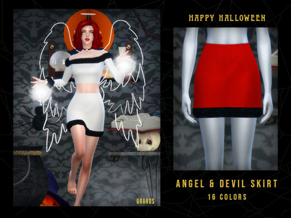 Angel and Devil Skirt by OranosTR from TSR