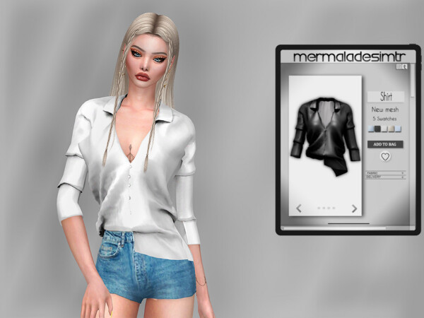 Asymmetrical Shirt MC74 by mermaladesimtr from TSR