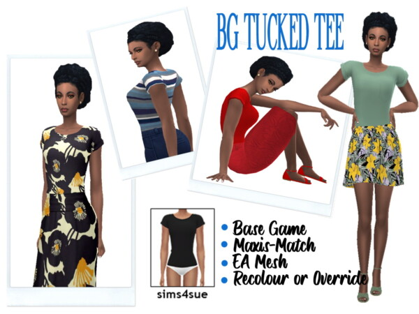 BG TUCKED TEE from Sims 4 Sue
