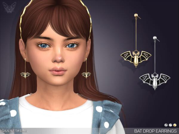 Bat Drop Earrings For Kids by feyona from TSR