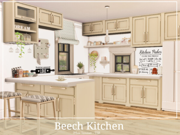 Beech Kitchen by Mini Simmer from TSR