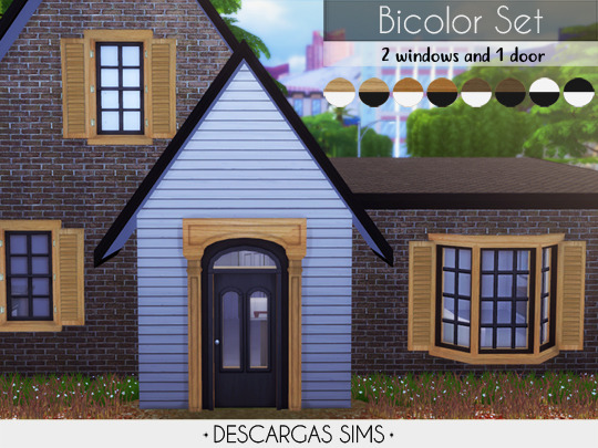 Bicolor Set from Descargas Sims