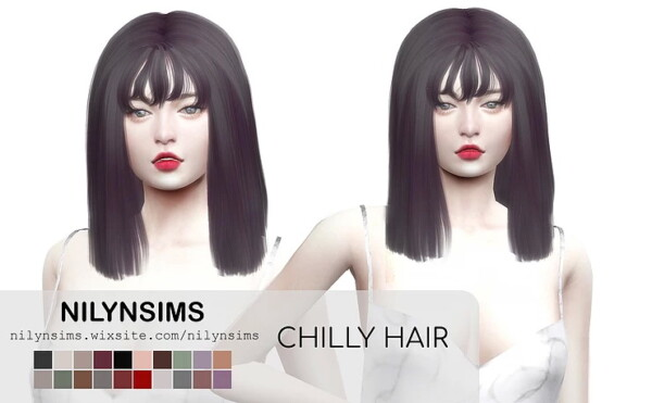Chilly Hairstyle from Nilyn Sims 4