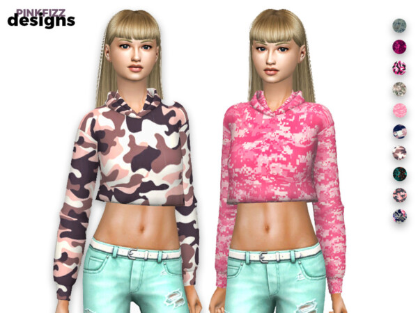 Cropped Hoody by Pinkfizzzzz from TSR