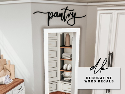 Decorative Word Decals from DK Sims
