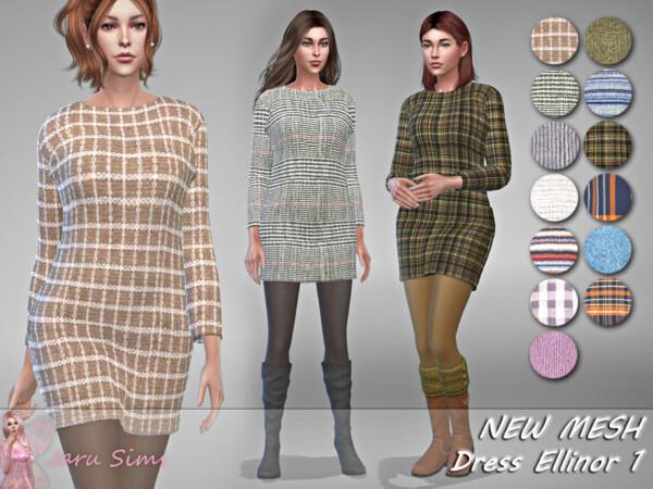 Dress Ellinor 1 by Jaru Sims from TSR