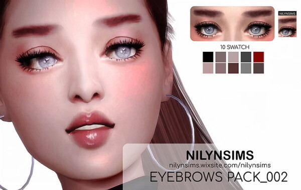 Eyebrows Pack 002 from Nilyn Sims 4