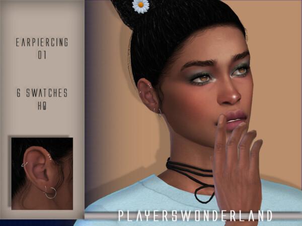 Ear Piercings by PlayersWonderland from TSR