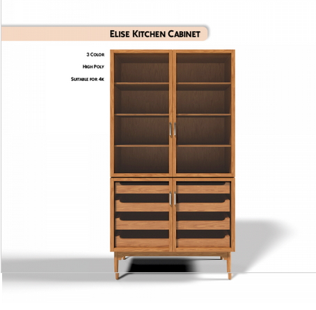 Elise Kitchen Cabinet from Paco Sims