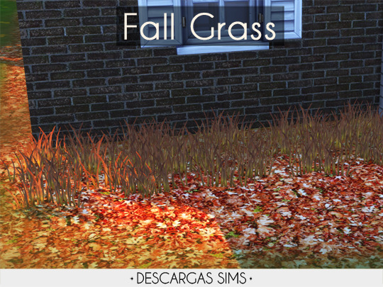 Fall Grass from Descargas Sims
