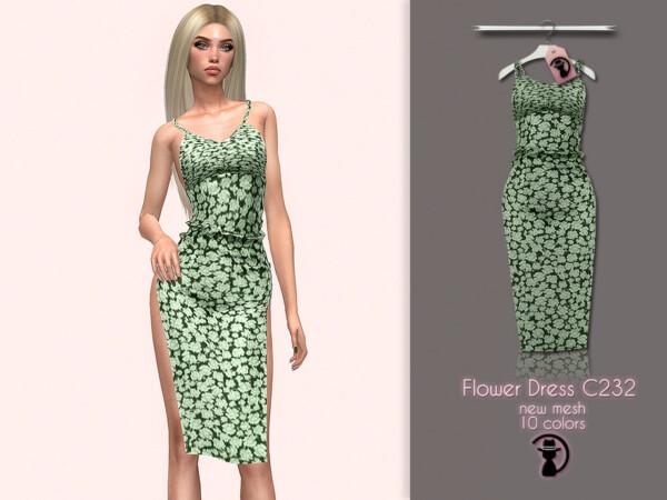 Flower Dress C232 by turksimmer from TSR