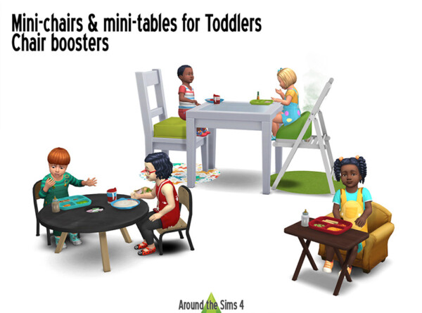 Furniture for toddlers meals from Around The Sims 4