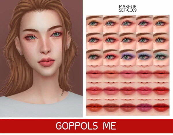 Gold Makeup Set CC09 from GOPPOLS Me