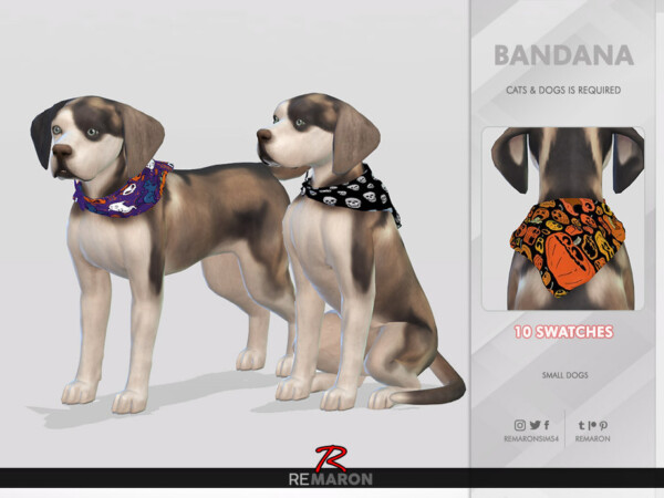 Halloween Bandana for Small Dogs 01 by remaron from TSR