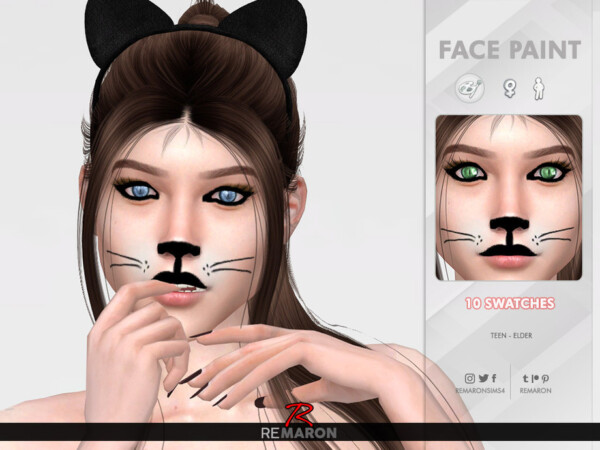 Halloween Cat Face Paint 01 by remaron from TSR