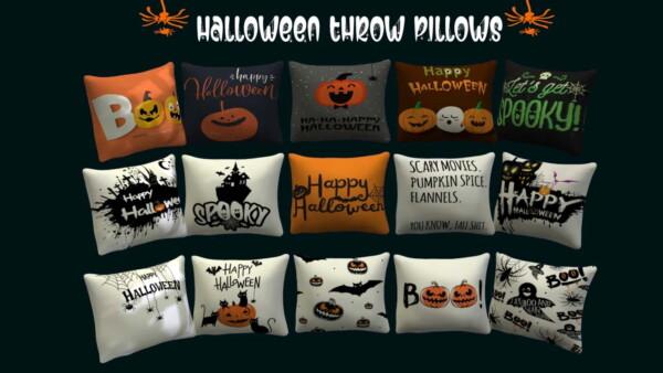 Halloween Throw Pillows from Sunkissedlilacs