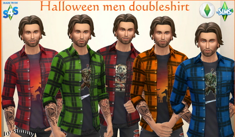Halloween Double Shirt by  Simmy from All4Sims