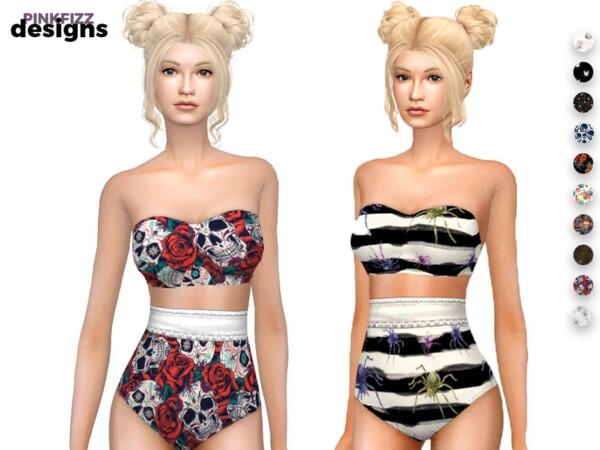 Halloween Swimwear by Pinkfizzzzz from TSR
