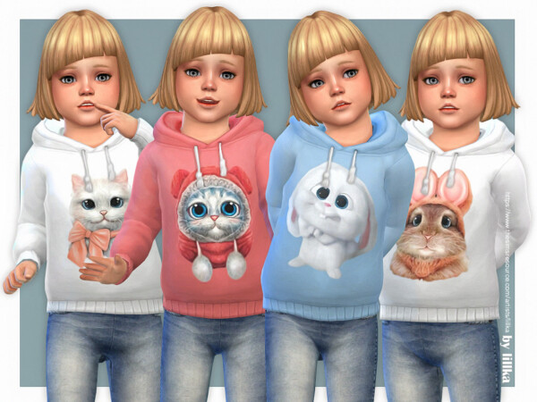 Hoodie for Toddler Girls P09 by lillka from TSR