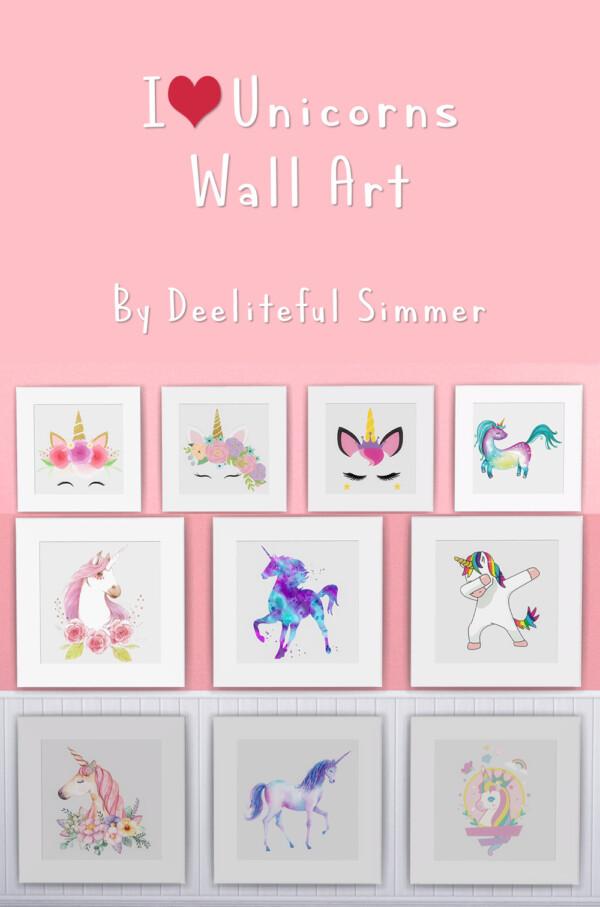 I Love Unicorns Walls from Deelitefulsimmer