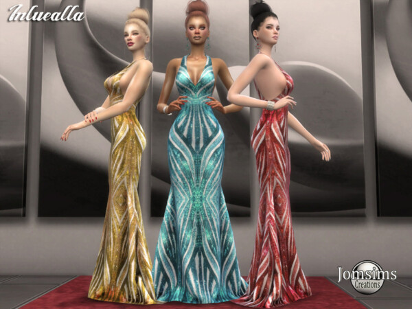 Inluealla dress by jomsims from TSR