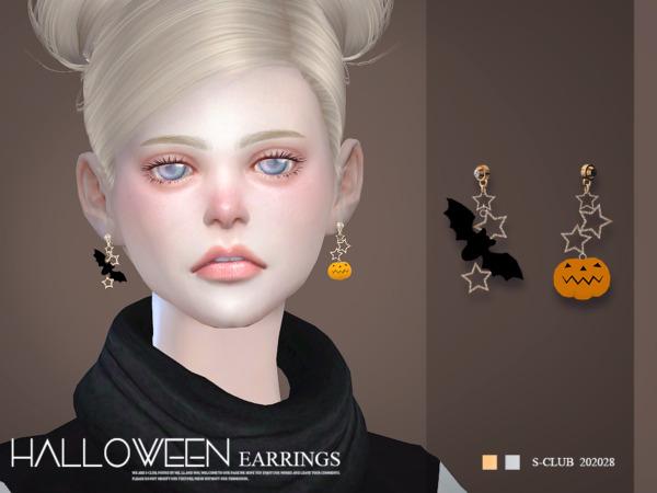 LL Earrings 202028 by S Club from TSR
