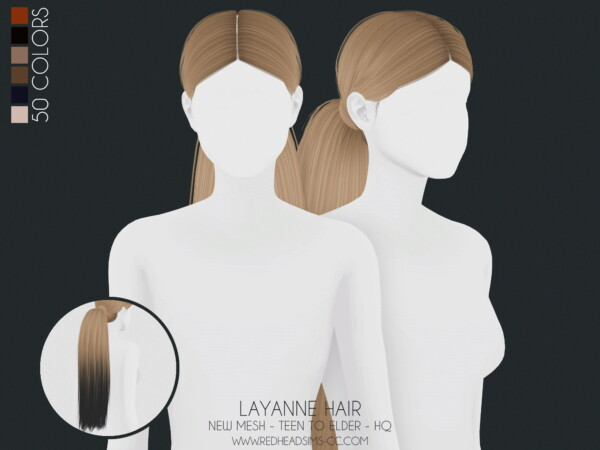 Layanne hair from Red Head Sims