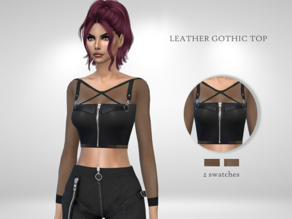 Leather Gothic Top by Puresim from TSR