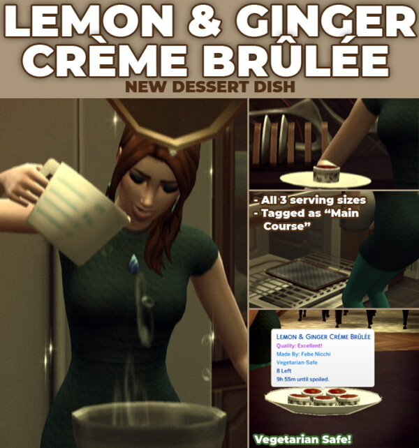 Lemon and Ginger Creme Brulee by RobinKLocksley from Mod The Sims