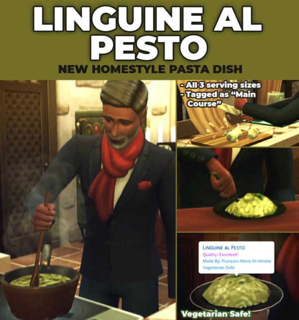 Linguine al Pesto by RobinKLocksley from Mod The Sims