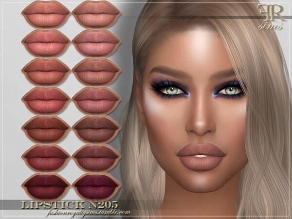 Lipstick N205 by FashionRoyaltySims from TSR