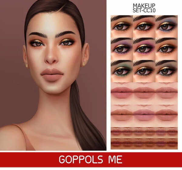 Gold Makeup Set CC10 from GOPPOLS Me