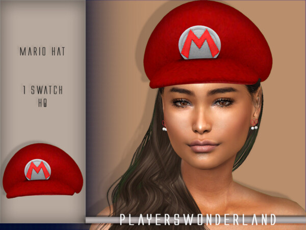 Mario Default Red Hat by PlayersWonderland from TSR
