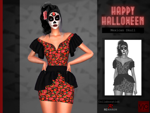 Mexican Skull Halloween VI by Viy Sims from TSR