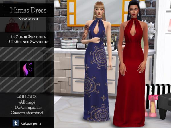Mimas Dress by KaTPurpura from TSR